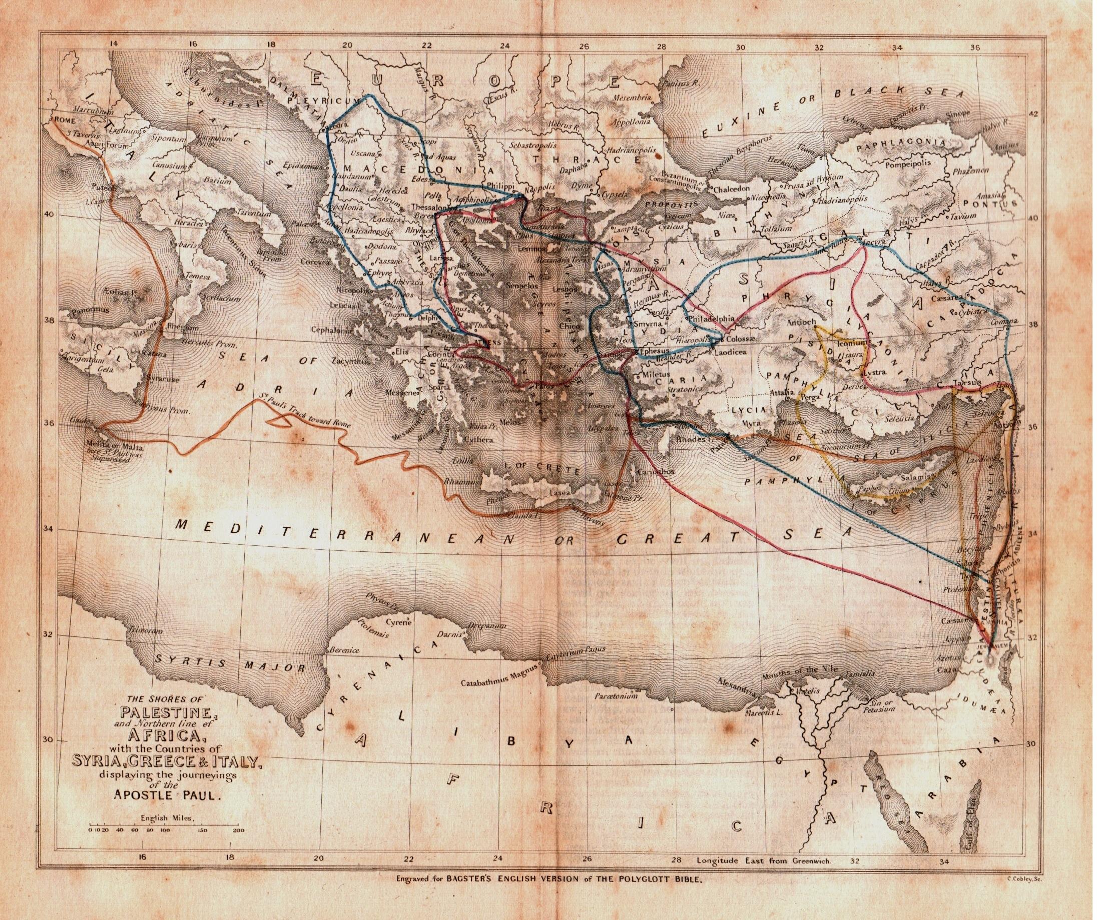 viaggi dell'apostolo Paolo